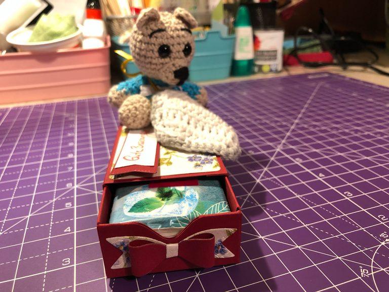 Gute Besserungsbox und Schnuffeltuchteddy