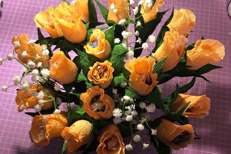 Blumenpralinen zum Muttertag